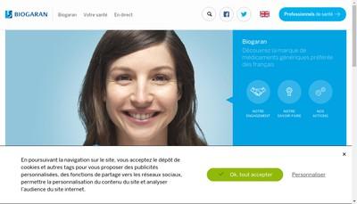 Site internet de Laboratoire Biogaran - Laboratoire Top-Pharm - Top-Pharm