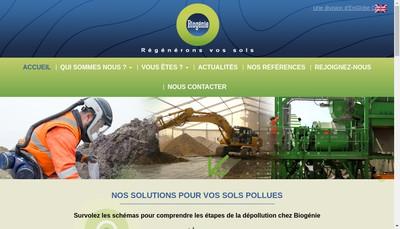 Site internet de Biogenie Europe SAS