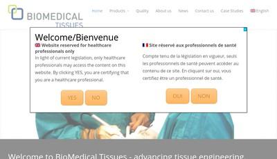 Site internet de Biomedical Tissues