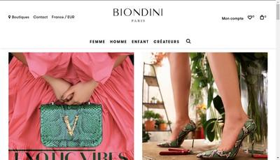 Site internet de Biondini
