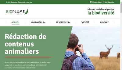 Site internet de SAS Bioplume