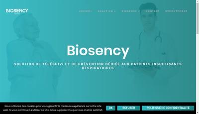 Site internet de Biosency
