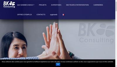 Site internet de Bk Consulting France