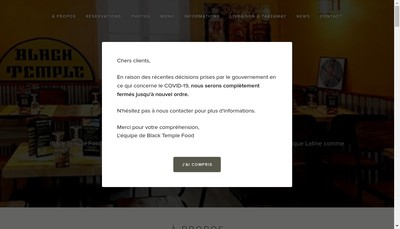 Site internet de Black Temple