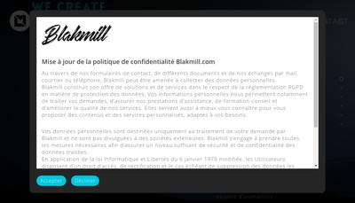 Site internet de Blakmill