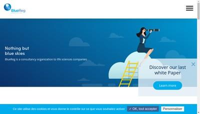 Site internet de Blue-Reg Pharma Consult