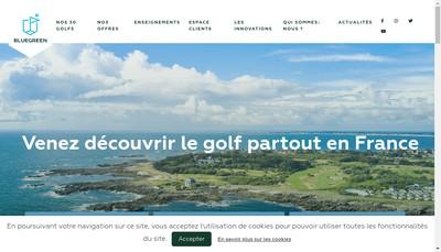 Site internet de Blue Green Golf de Lyon Chassieu