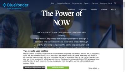 Site internet de Blue Yonder France SAS