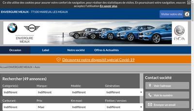 Site internet de Envergure Meaux