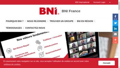 Site internet de BNI