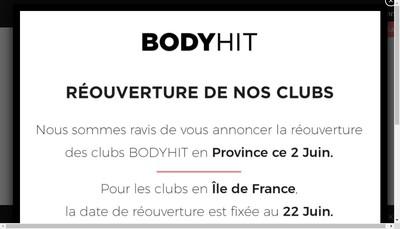 Site internet de Bodytec Club