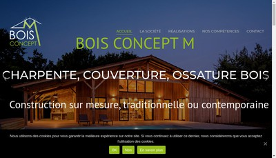 Site internet de Bois Concept M