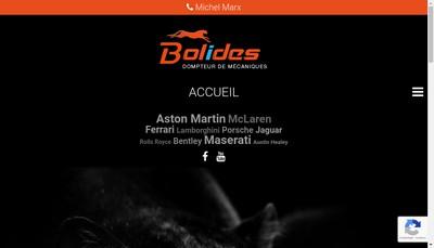 Site internet de Bolides