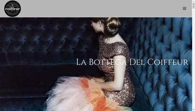 Site internet de La Bottega Del Coiffeur