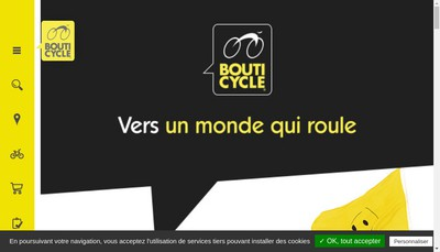 Site internet de Bouticycle Angouleme