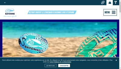 Site internet de Boutique Aviron Bayonnais