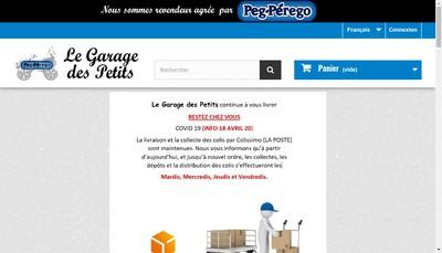 Site internet de Le Garage des Petits