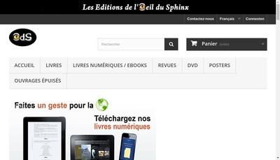 Site internet de Les Editions de l'Oeil du Sphinx
