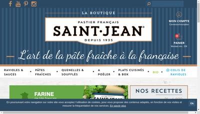 Site internet de Saint Jean Boutique