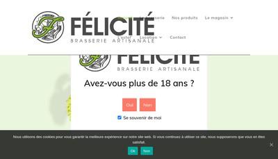 Site internet de Brasserie Felicite