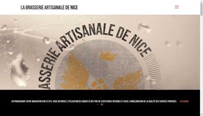 Site internet de La Brasserie Artisanale de Nice