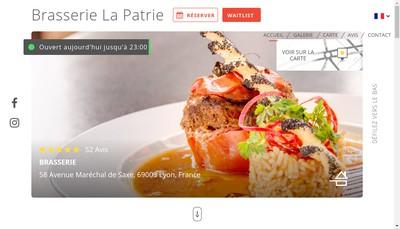 Site internet de Brasserie de la Patrie