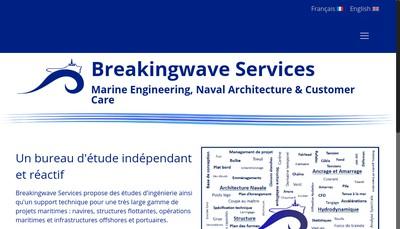 Site internet de Breakingwave Services