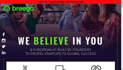 Site internet de Breega Capital Venture One
