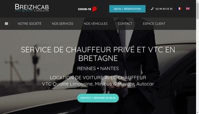 Site internet de Breizhcab Location