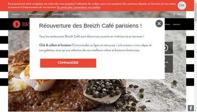 Site internet de Breizh Cafe Paris