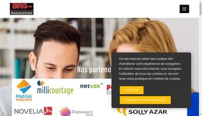 Site internet de Brg Assurances