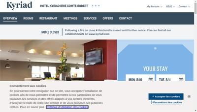 Site internet de Brie Auvergne Invest Hotels