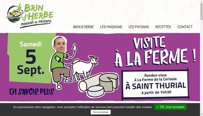 Site internet de Brin d'Herbe Magasin a la Ferme