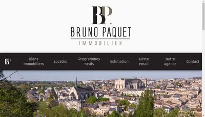 Site internet de Bruno Paquet Immobilier