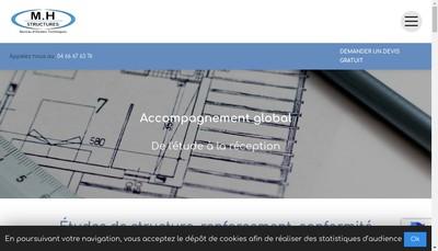 Site internet de MH Structures