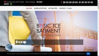 Site internet de Basic Tce Batiment