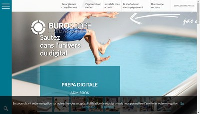 Site internet de Buroscope