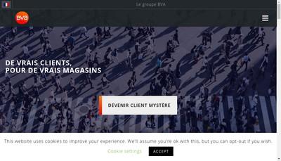 Site internet de Bva Mystery Shopping