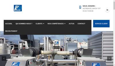 Site internet de Bv Froid