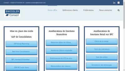 Site internet de Bwissler Conseil