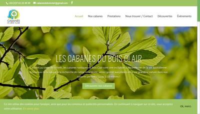 Site internet de Cabanes du Bois Clair
