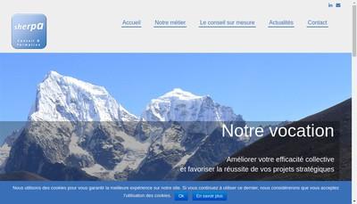 Site internet de Sherpa, Conseil et Formation