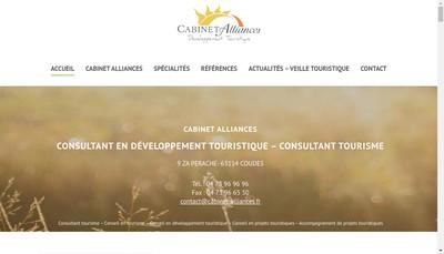 Site internet de Cabinet Alliances Developpement Touristi