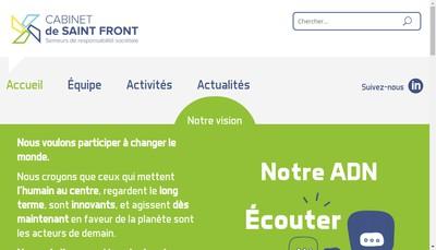 Site internet de Cabinet de Saint Front