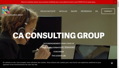 Site internet de Ca Consulting