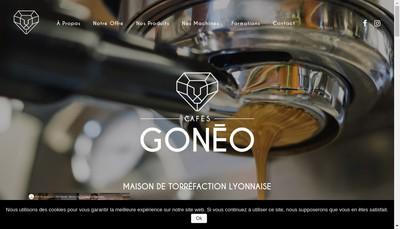 Site internet de Cafes Goneo