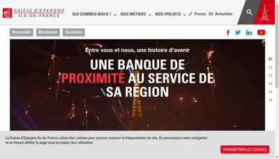 Site internet de Caisse d'Epargne et de Prevoyance Ile-de-France