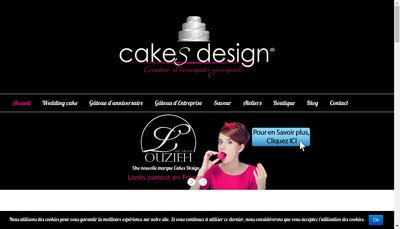 Site internet de Cakes Design