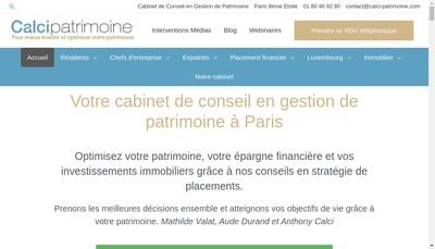 Site internet de Calci Patrimoine