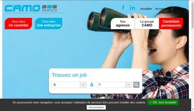 Site internet de Camo Interim